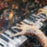 """""""Jazz Pianist"""" 24""""x24""""x2"""""""