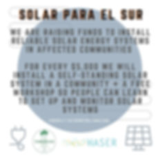 Donate to Solar PAL SUR, Tabonuco's cont