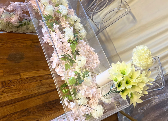 Ghost Table With Fill  (Rental) by @Blissfulmoments