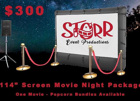 "Movie Night - 114"" Screen (Rental)"