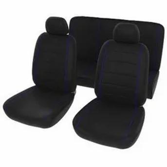 Universal Seat Cover Black+Blue 6Ppc AUTO PARTS ONLINE SA