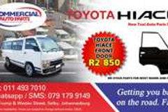 Front Door For Toyota HiaceAUTO PARTS ONLINE SA