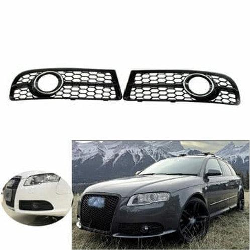 Audi A4 B7 S-Line S4 05-08 Honeycomb Front Bumper Fog Lamp Grille 2005-2008 AUTO PARTS ONLINE SA
