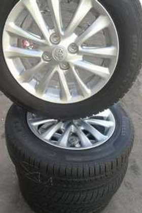 A set of Toyota etios mags 15inch rims and tyres AUTO PARTS ONLINE SA