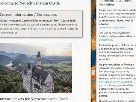 ノイシュヴァンシュタイン城は2020年6月2日より再オープン