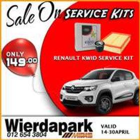 Renault KWID Service Kit AUTO PARTS ONLINE SA
