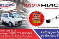 Front Bumper For Toyota Hiace AUTO PARTS ONLINE SA
