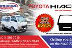 Tail Gate For Toyota Hiace AUTO PARTS ONLINE SA
