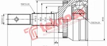 OUTER CV JOINT - NI5931A (TEKNOSA) AUTO PARTS ONLINE SA