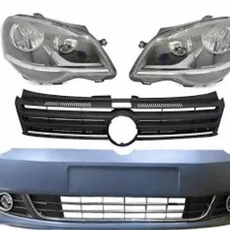 VW Polo Vivo Plastic Upgrade Front Bumper With Headlight & Fogs (10-17) AUTO PARTS ONLINE SA
