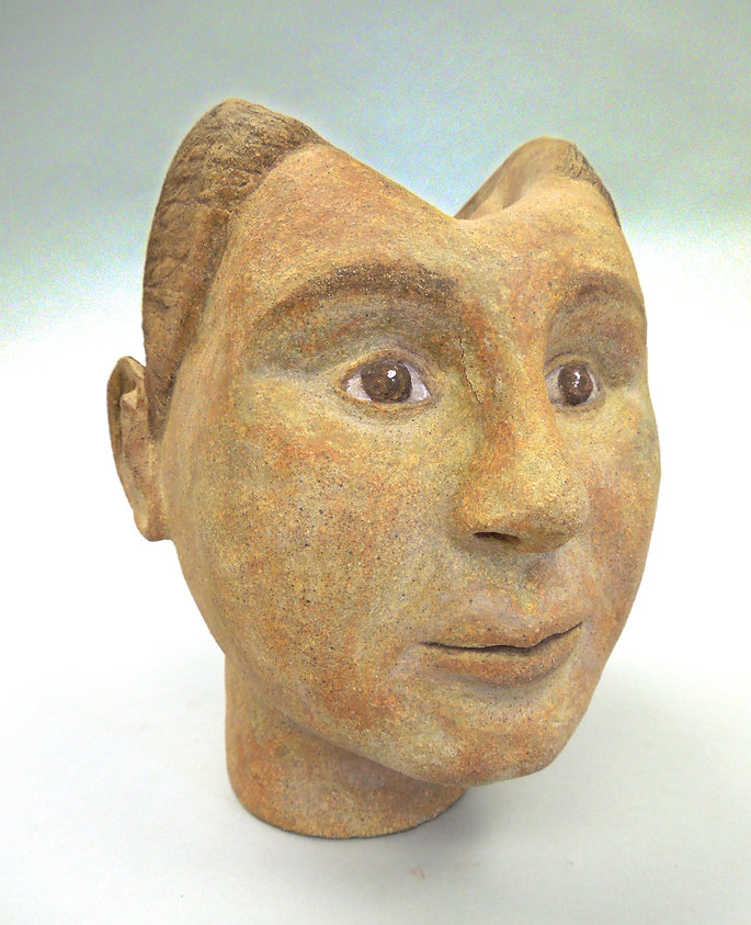 memory sculpture, memory art, susi lopera sculpture, ceramic face, susi lopera art, susi lopera, surrealist art, ceramic sculpture, figurative ceramic art, bust ceramic, self portrait clay, portrait clay, clay bust, clay face,