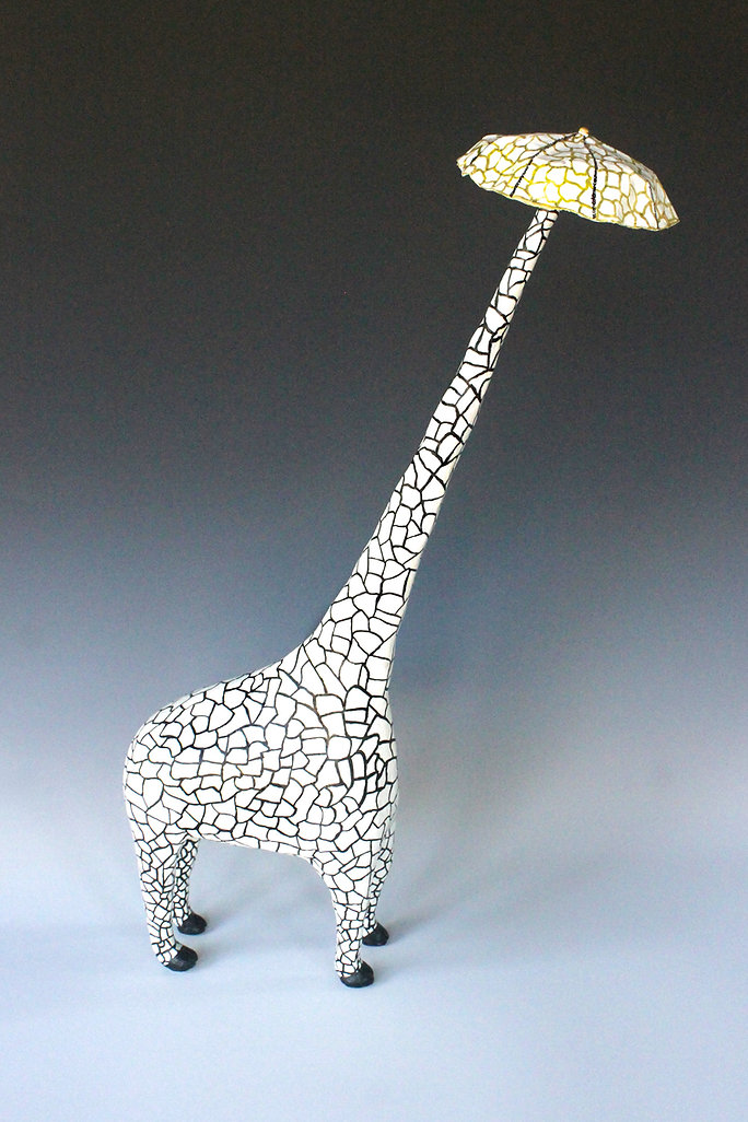 susi lopera sculpture, susi lopera art, susi lopera, surrealist art, ceramic sculpture, clay giraffe, ceramic giraffe, surreal giraffe, environmental art, weird ceramic art, weird clay art, weird giraffe art