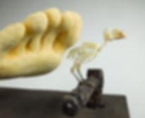 lopera art, susi lopera, surrealist art, ceramic sculpture, figurative ceramic art, foot sculpture, foot art, bird art, bird skeleton, bird skeleton art, bones art, bird skeleton art, bird bones art, bones art, bones sculpture
