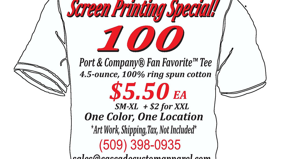 100 Shirts for $5.50