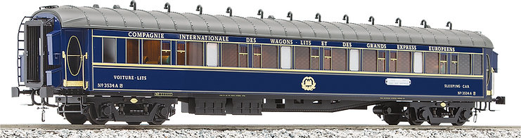 "J & M Models ""Train Bleu"" CIWL Sleeper"
