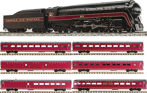 N&W 4-8-4 J-Class #611 Train Set