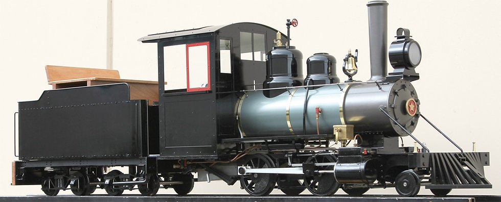 "Accucraft Ride-On - 2-4-0 with Tender (2.5"" Scale)"