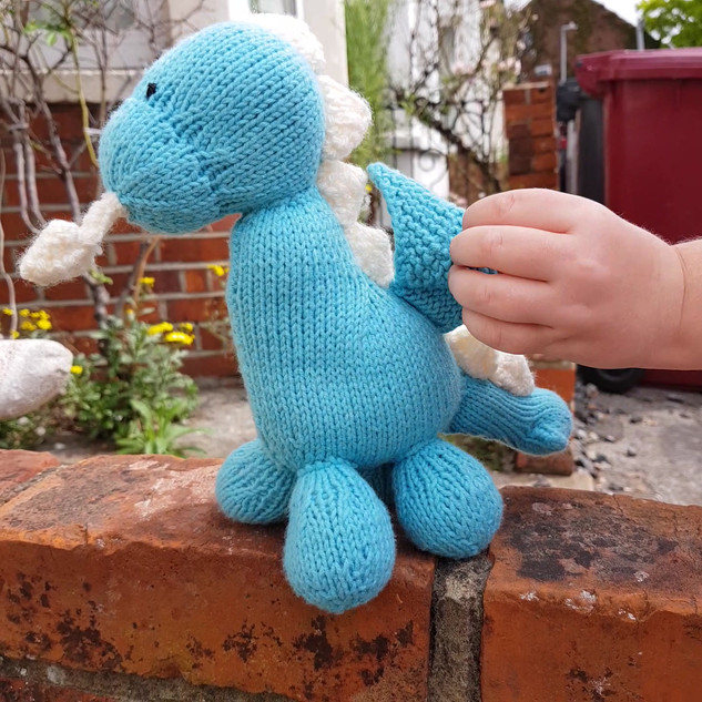 After | Knitted Dragon for Jasper