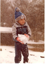 V playing in his first 'snow' day