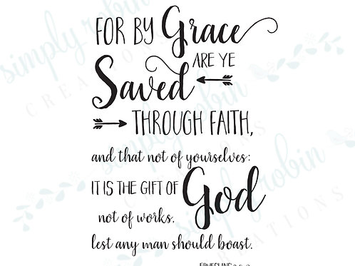 Clip Art - For by Grace are Ye Saved, Ephesians 2:8-9