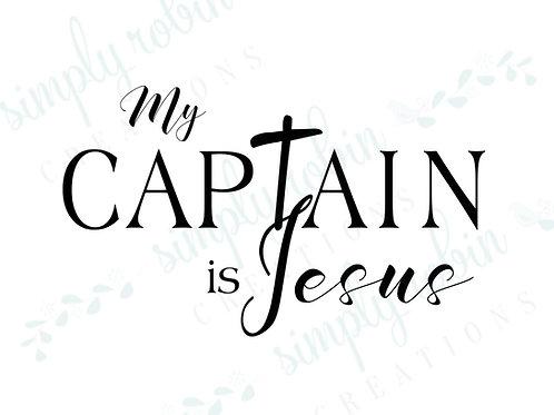 Clip Art - My Captain is Jesus