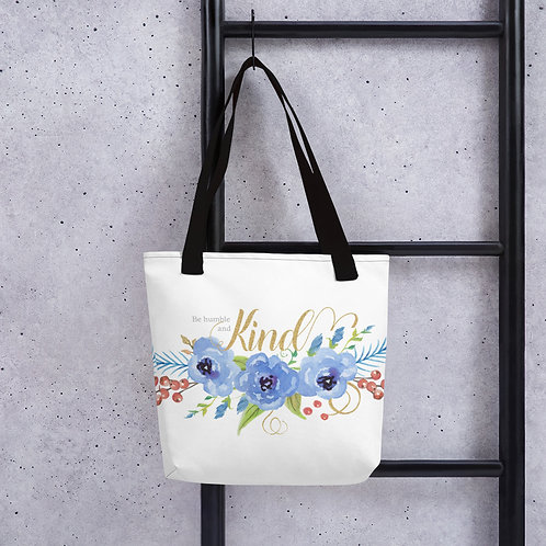 Tote Bag - Floral Be Humble and Kind