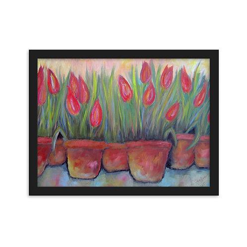 """Framed Poster - """"Mom's Tulips"""""""