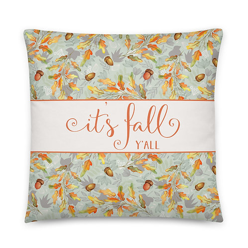 Pillow - it's fall y'all Autumn Leaves