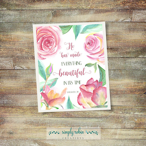 Printable - He Has Made Everything Beautiful, Ecc 3:11