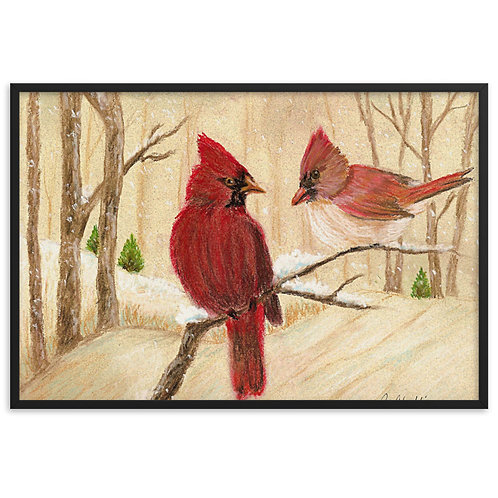 Framed Poster - Mom's Favorite Redbirds