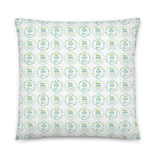 Time to Relax, Go with the Flow, Fun Pattern Basic Pillow