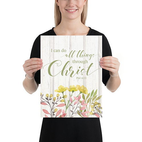 Poster - I can do all things through Christ, Phil 4:13