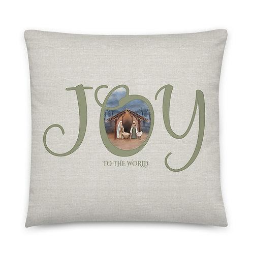 Pillow - JOY to the World Nativity