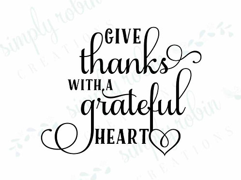 Clip Art - Give Thanks with a Grateful Heart