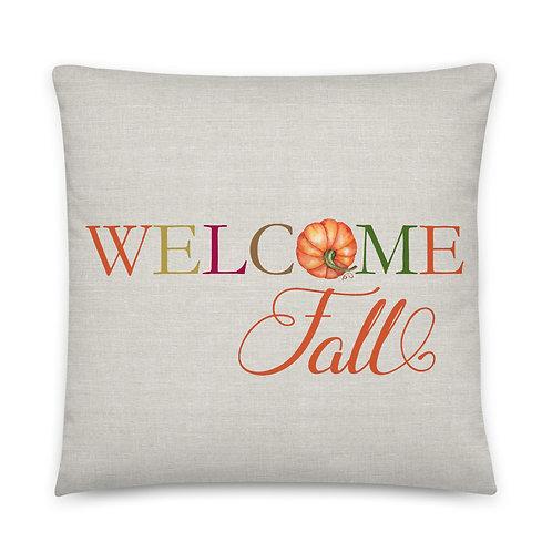 Pillow - Welcome Fall Pumpkin