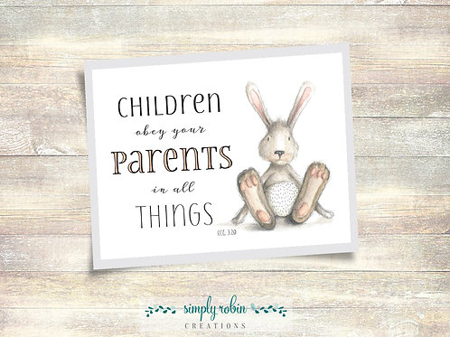 Printable - Children Obey Your Parents