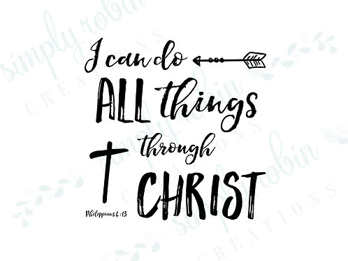 Clip Art - I can do all things through Christ, Phil 4:13