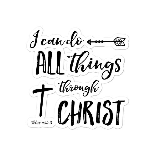 Sticker - I can do all things through Christ Phil 4:13