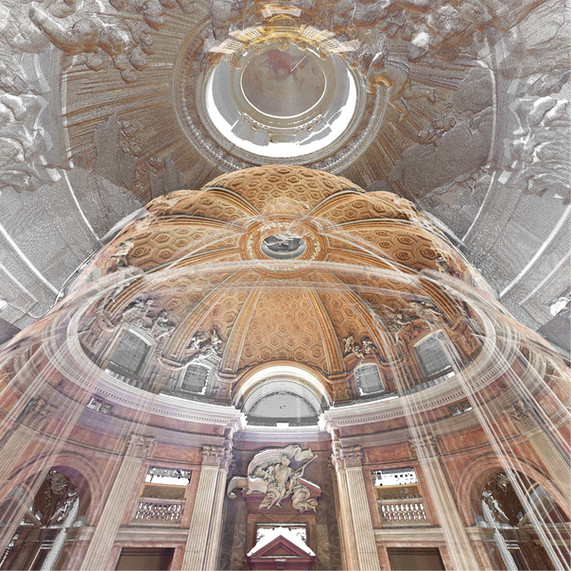 Point Cloud Render of Sant'Andrea al Quirinale