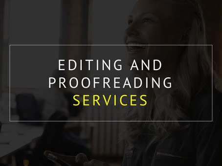 Proofreading and Editing Your Paper