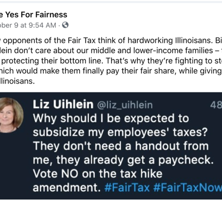 PRITZKER 'FAIR TAX' GROUP PAYS OVER $10,000 TO PUSH FAKE TWEET