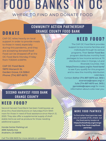 Food Banks in OC