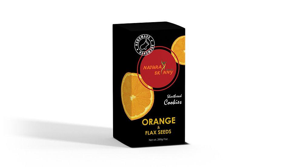 Shortbread Cookie - Orange & Flax Seeds