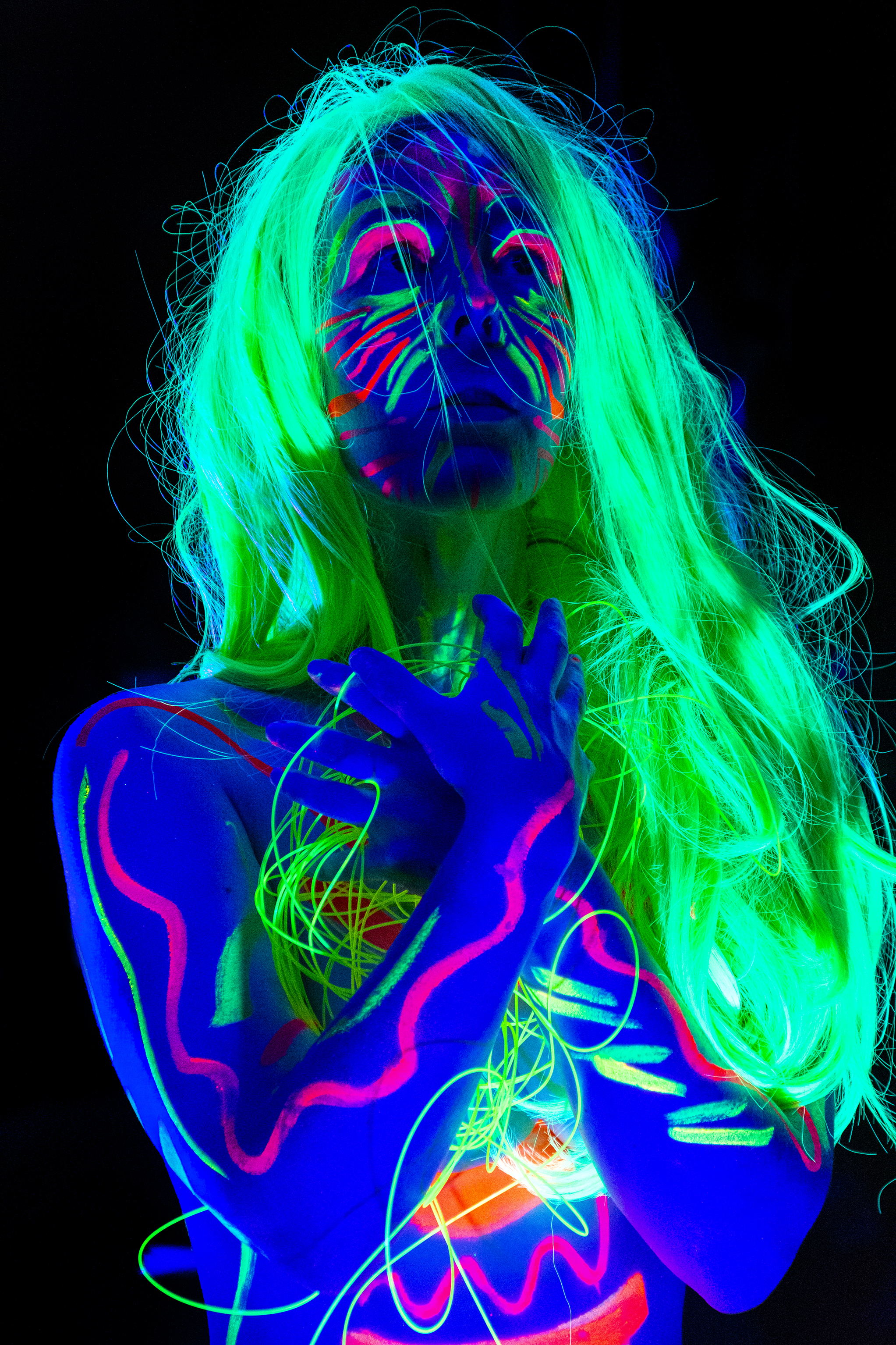 Steph modelling for Neon Naked.