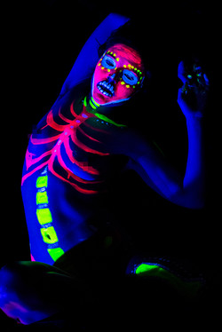 Hattie modelling for Neon Naked.