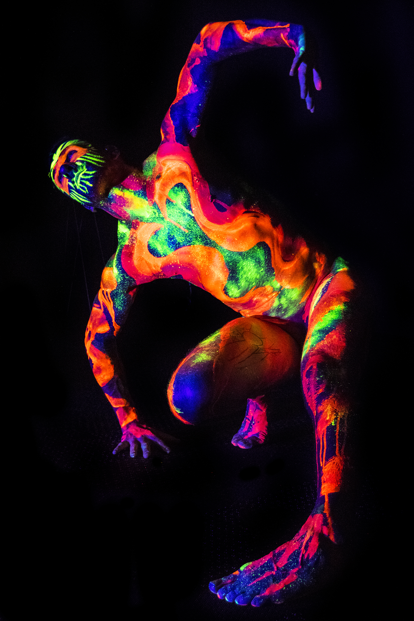Joe modelling for Neon Naked.