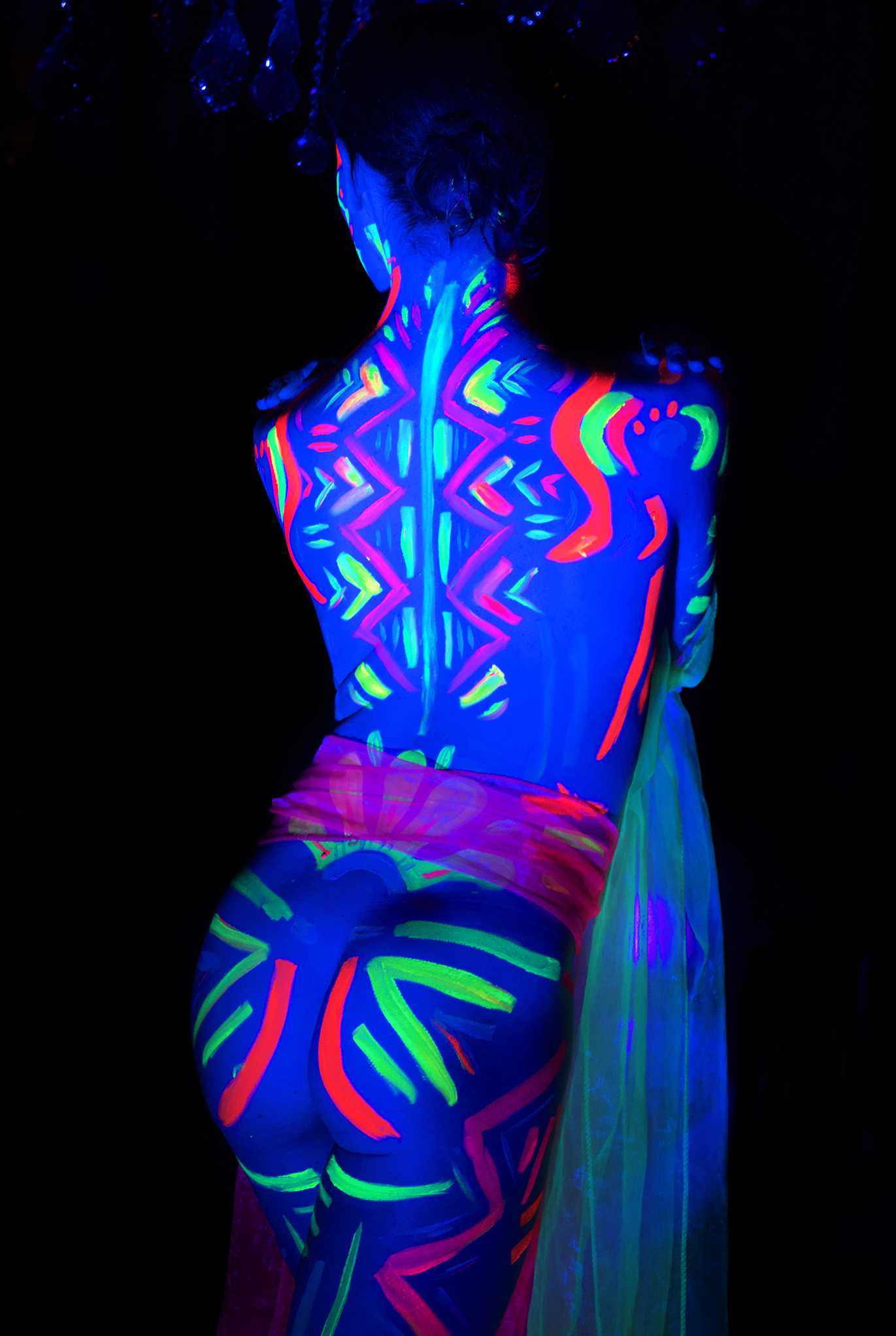 Janet modelling for Neon Naked