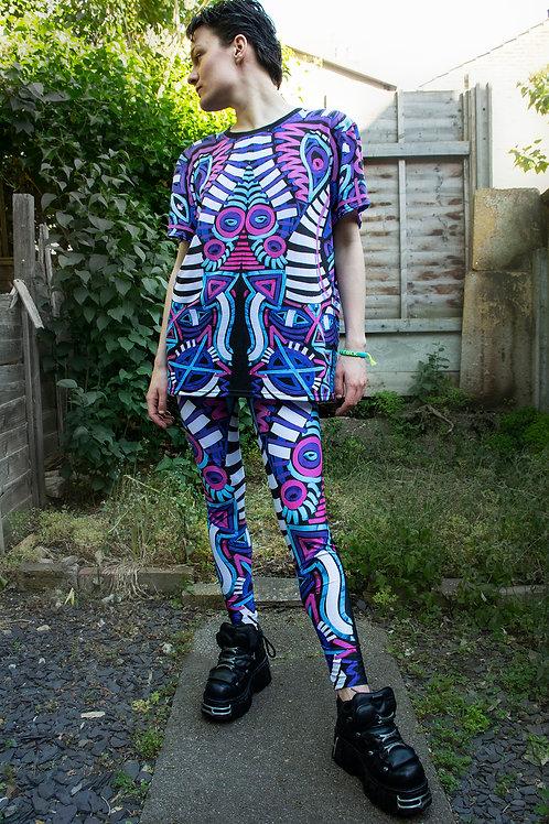 All Over Sublimation Print Leggings - Multicoloured