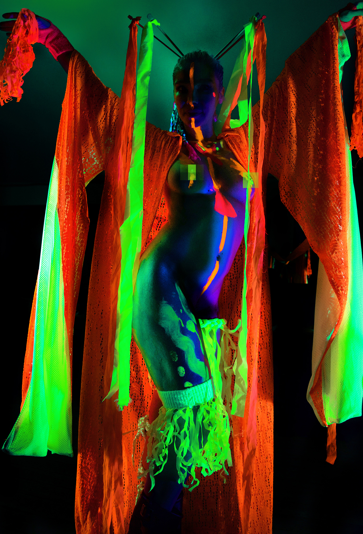 Valantina modelling for Neon Naked.