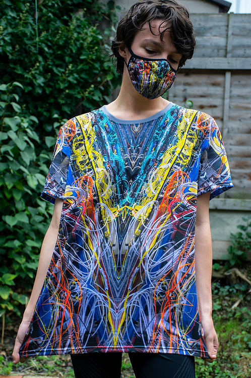 All Over Sublimation Print T-Shirt - Multicoloured